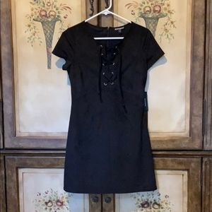 Express Faux Suede dress XS